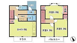 [テラスハウス] 兵庫県神戸市西区池上2丁目 の賃貸【兵庫県 / 神戸市西区】の間取り