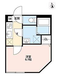 東京都調布市柴崎2丁目の賃貸アパートの間取り