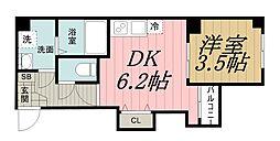 千葉県千葉市中央区登戸1丁目の賃貸マンションの間取り