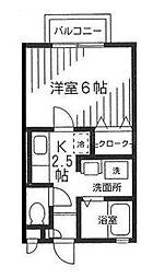 神奈川県横浜市港南区港南台4丁目の賃貸アパートの間取り