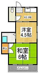 上ノ原荘[2階]の間取り