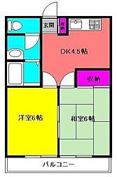 鈴木ハイツ[102号室]の間取り
