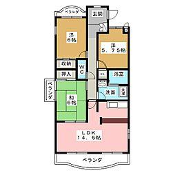 アンシャンテ印場[3階]の間取り