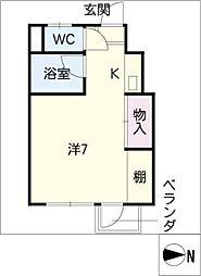 アカディームII[3階]の間取り
