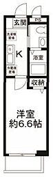 東京都品川区戸越6丁目の賃貸アパートの間取り