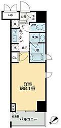 QC Flat北堀江[7階]の間取り
