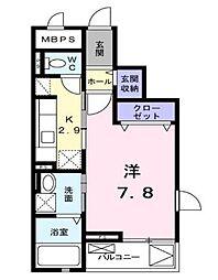 コンプレーション アンソレイエ[3階]の間取り