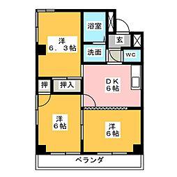 カトービル[2階]の間取り