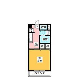 サープラスワンさくら[1階]の間取り