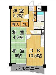 アスカディア武庫之荘[3階]の間取り