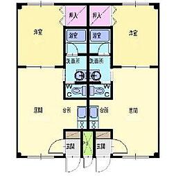 ピュアパレス豊川[2階]の間取り