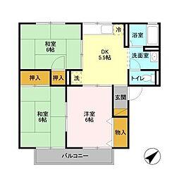 メープルハイム[2階]の間取り