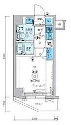 リヴシティ横濱インサイト[6階]の間取り
