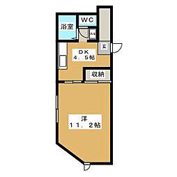 ノーウェアルーム1[2階]の間取り