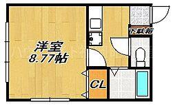 ウイングV[3階]の間取り