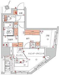 ハーモニーレジデンス千代田岩本町[3F号室]の間取り
