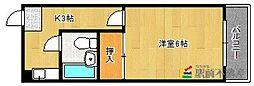 福岡県久留米市松ヶ枝町の賃貸マンションの間取り