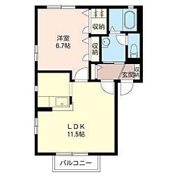 リベラルタウンK[1階]の間取り