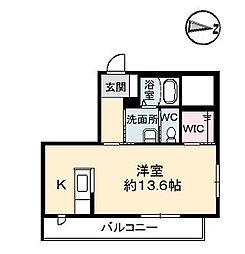 シャーメゾン佐古[2階]の間取り