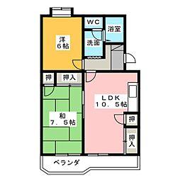 サンシャイン天王I[3階]の間取り