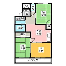 エステート沢田[4階]の間取り