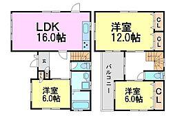 [一戸建] 兵庫県尼崎市瓦宮2丁目 の賃貸【/】の間取り