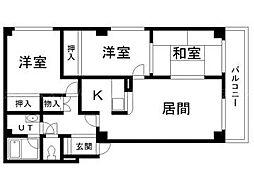 サンフラワー元町[2階]の間取り