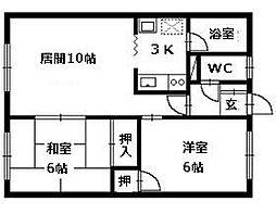 北海道札幌市清田区平岡九条1丁目の賃貸アパートの間取り