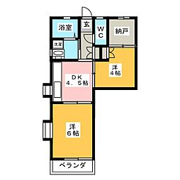 ファミールK[1階]の間取り