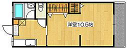 稲富ハイツ[107号室]の間取り
