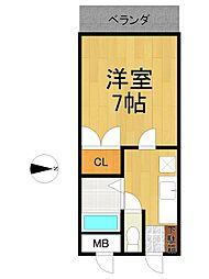 リーストラクチャー塚口2[4階]の間取り