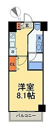 京成押上線 八広駅 徒歩11分の賃貸マンション 1階1Kの間取り