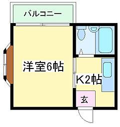 大阪府大阪市住吉区山之内元町の賃貸マンションの間取り