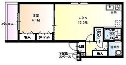 フジパレス堺大浜VI番館[3階]の間取り