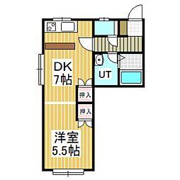 ハイツたんぽぽ3[2階]の間取り