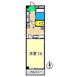 ノワール北新田[2階]の間取り