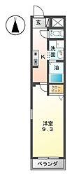 愛知県あま市甚目寺流の賃貸マンションの間取り