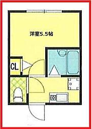 東京都葛飾区四つ木1丁目の賃貸アパートの間取り