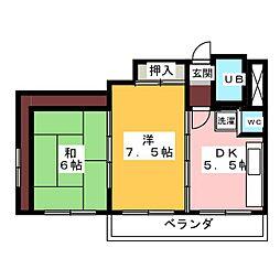 マンション ハイグッド[2階]の間取り