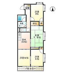 コンフォ・トゥール[2階]の間取り