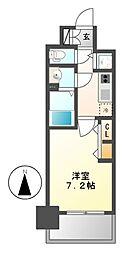 愛知県名古屋市中村区若宮町3の賃貸マンションの間取り
