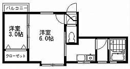 クレセントKO-SA[2階]の間取り