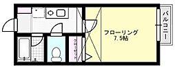 第6フジハイツ[206号室]の間取り