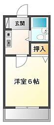 モナムール甲子園[2階]の間取り
