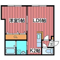 ドリームハウス月寒[2階]の間取り