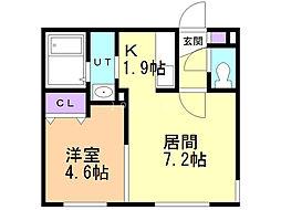 Y's札幌 3階1LDKの間取り