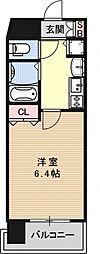 プレサンス京都駅前千都[401号室号室]の間取り