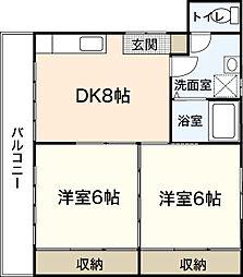 サンシャイン中央II[2階]の間取り