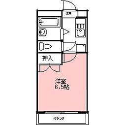 安田学研会館 東棟[505号室]の間取り