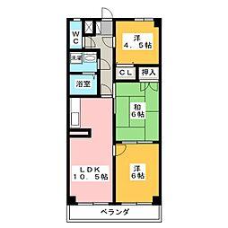 デンファレ[4階]の間取り